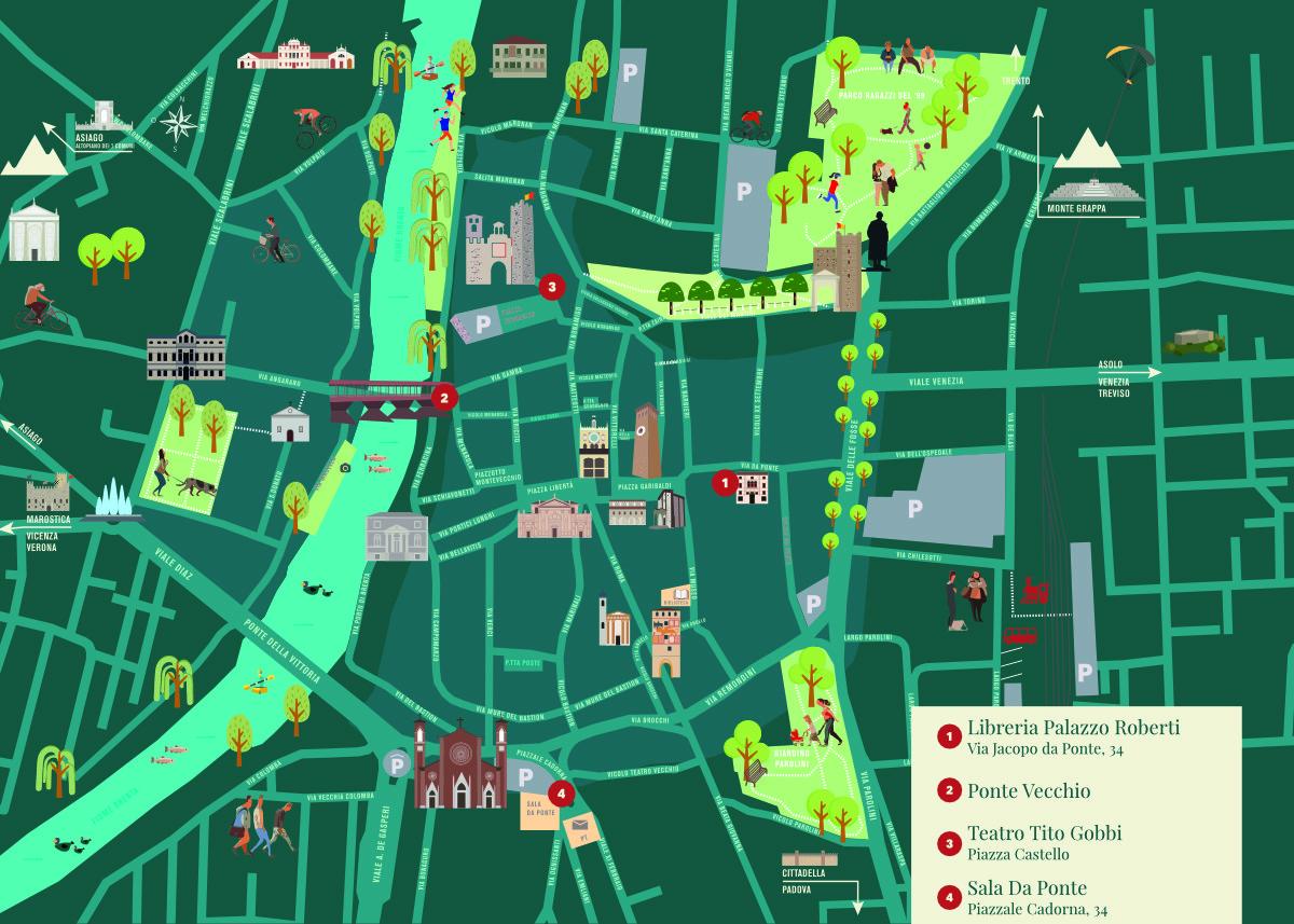 Mappa locations rassegna letteraria Palazzo Roberti Resistere